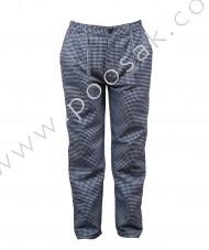 Chef Pant Check Fabric With Zipper