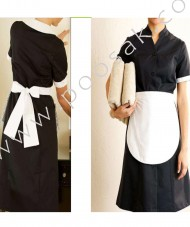Houskeeping Uniform Full  with apron for women